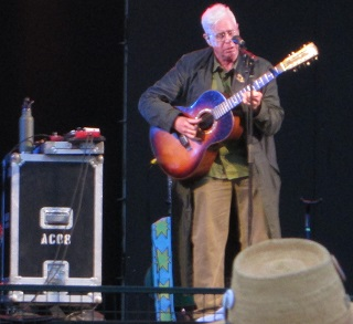 Bruce Cockburn performed one new song - with a gospel message.