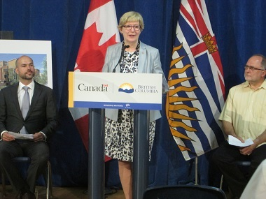 Vancouver-Fraserview MLA Suzanne Anton was among the dignitaries who took part in the Co:Here Community Housing ground-breaking.
