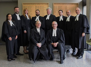 Legal counsel for TWU and intervenors in support of its position at the Nova Scotia Court of Appeal, including members of the Christian Legal Fellowship.