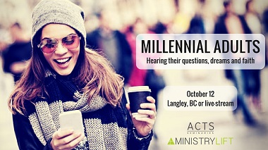 Geoff Kullman will join Dr. Chris Kiesling to present Millennial Adults: Hearing Their Questions, Dreams & Faith at ACTS Seminaries.