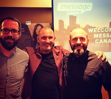 Andy Hawthorne (centre) has been with the Message since the beginning. Sam Ward (left) is behind the Eden projects and Dave Morgan will run Eden Whalley.