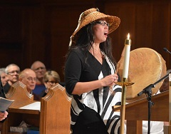Audrey Siegl of Musqueam First Nation welcomed those participating in the celebration. Photo by Randy Murray.
