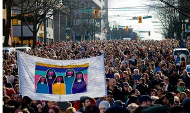 The Women's Memorial March begins at noon February 14.