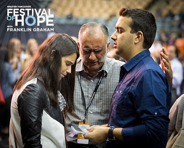People all over Metro Vancouver and beyond are praying that many people will acknowledge the Lordship of Jesus Christ during the Festival of Hope.
