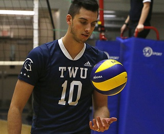 TWU volleyball star Ryan Sclater is in the running for top Canadian male university athlete.