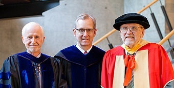 Carl Armerding (left), Jeffrey Greenman and Ward Gasque – key players in the Regent College story.