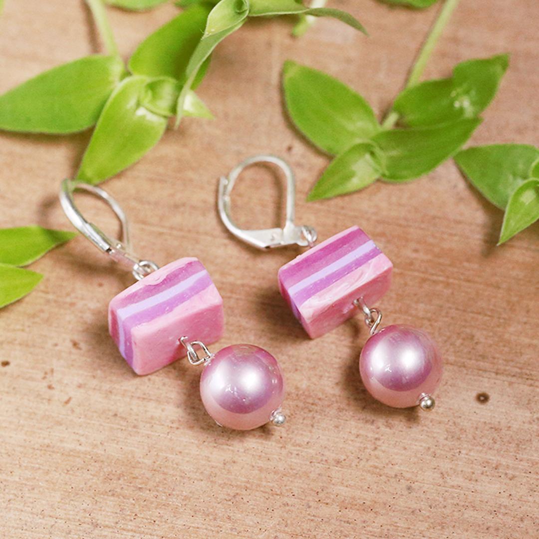 Rose Pearl Layered Earrings