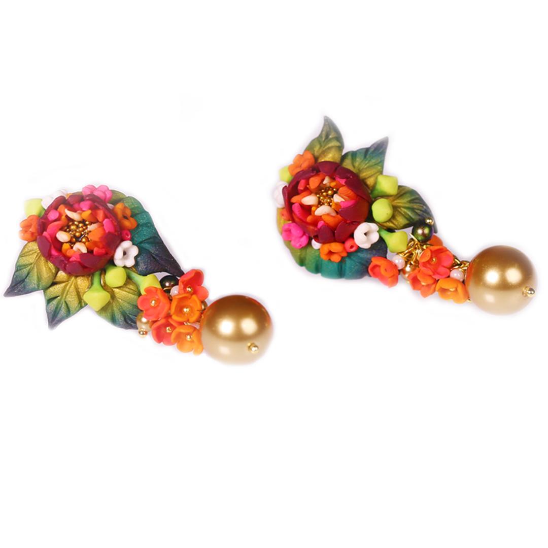 Shalimar Red Rose Golden Pearls