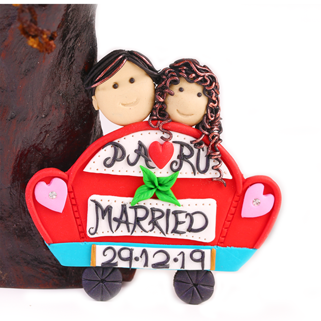 Wedding Fridge Magnet Bride and Groom