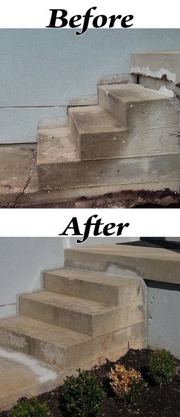 Before and After Mudjacking from Best Waterproofing
