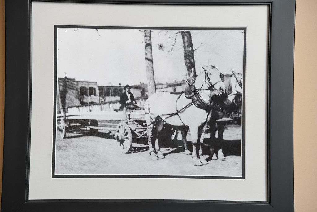 NL horse carriage lumber delivery