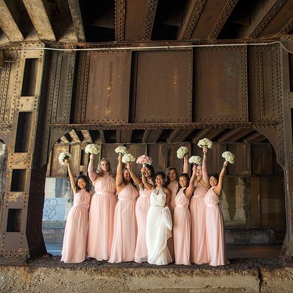 Designer bridesmaid dresses available at top Bridal Shop Sophia's Bridal & Tux