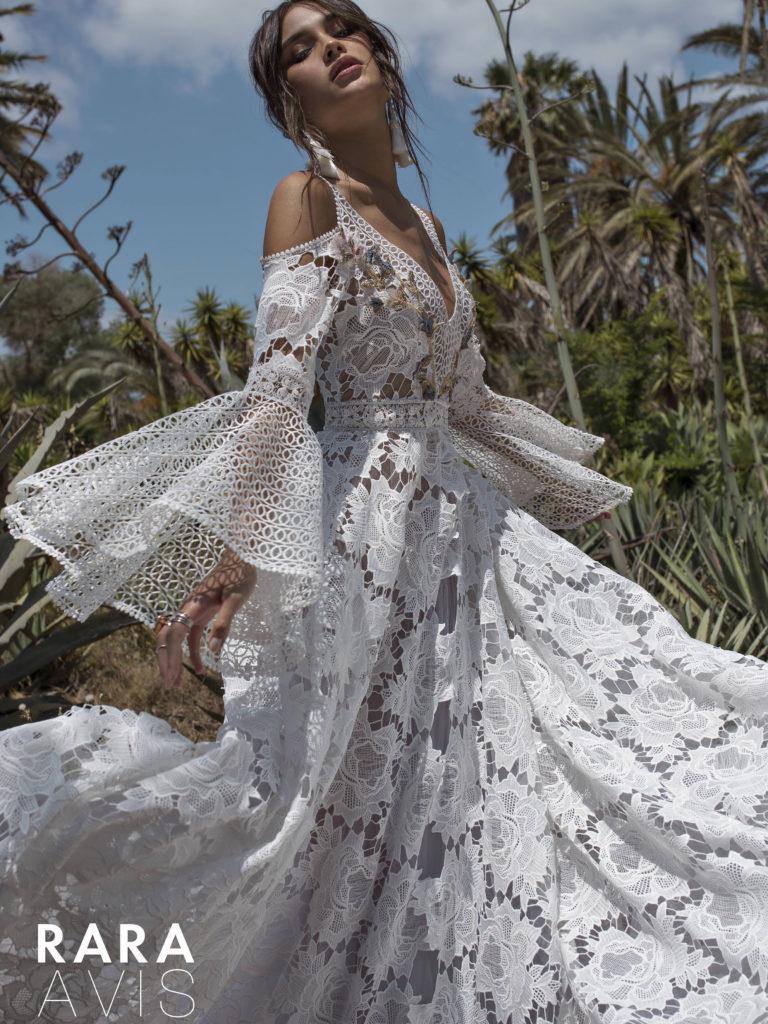 Rara Avis Designer bridal gown available at top Bridal Shop Sophia's Bridal & Tux