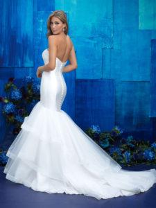 mikado mermaid wedding dress