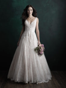 beaded embroidery a-line wedding dress