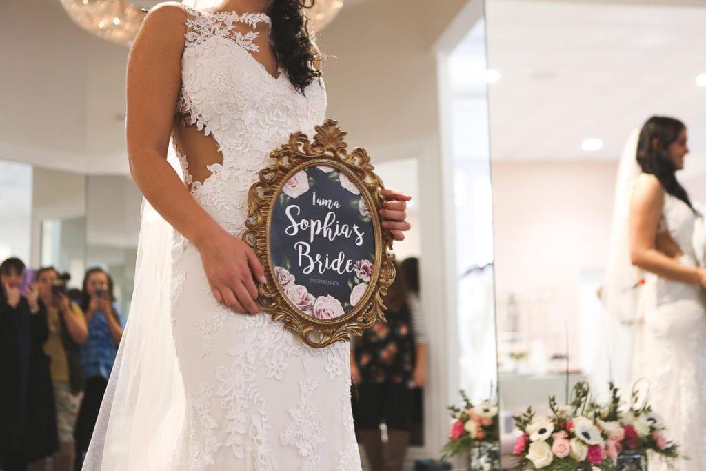 Become a Sophia's Bride at your private bridal appointment and find your perfect wedding dress.