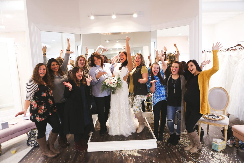 Celebrate with your family and friends at an intimate private appointment and find your perfect wedding dress