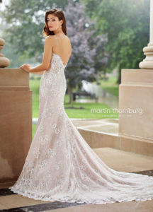 fitted martin thorn burg wedding dress sleeveless and lace