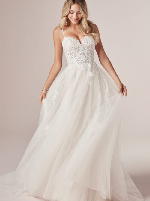 wedding dress, aline, rebecca ingram