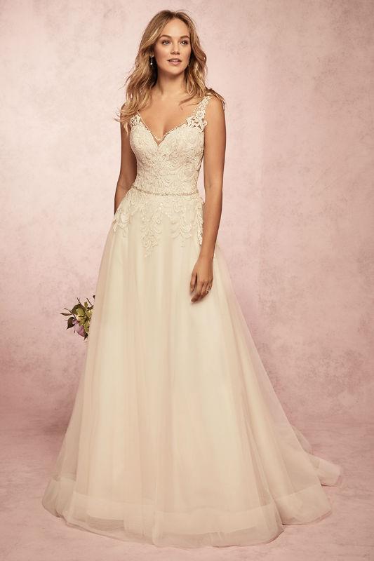 wedding dress, aline, beading straps, lace, tulle, horse hair, rebecca ingram