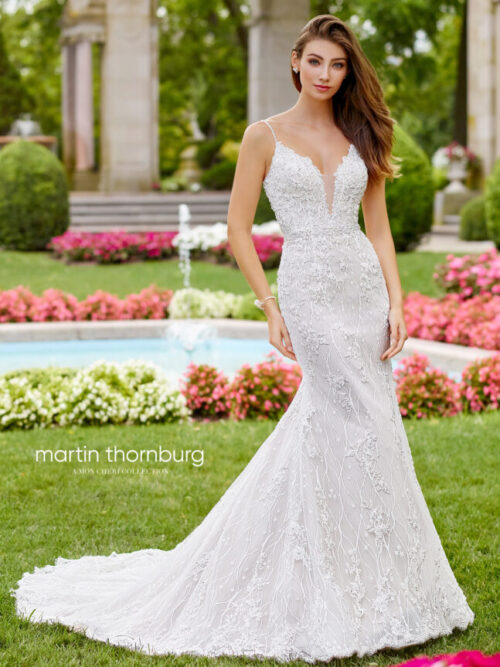 lace all over wedding dress