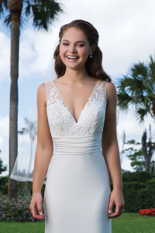 Lace, Jersey Fitted Sheath