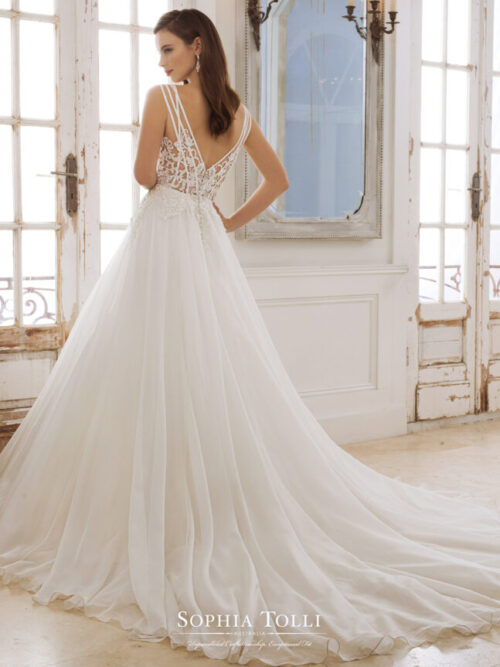 Sophia Tolli lace tulle ball gown wedding dress