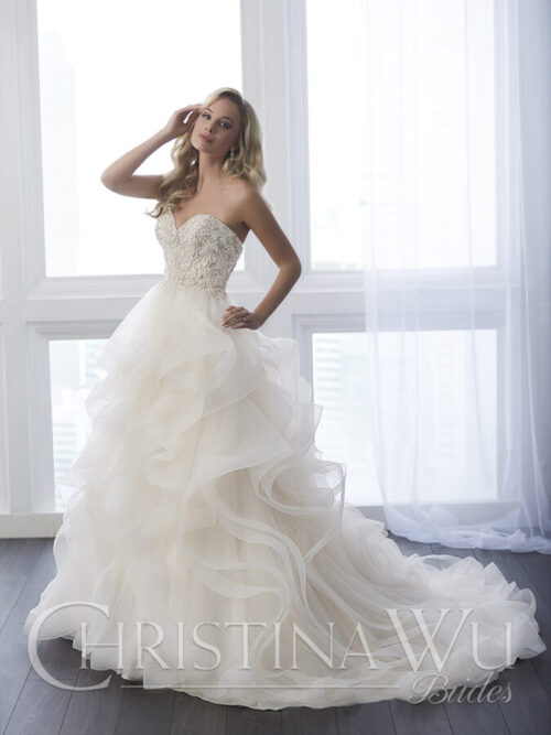 Strapless Ballgown/beads and horsehair