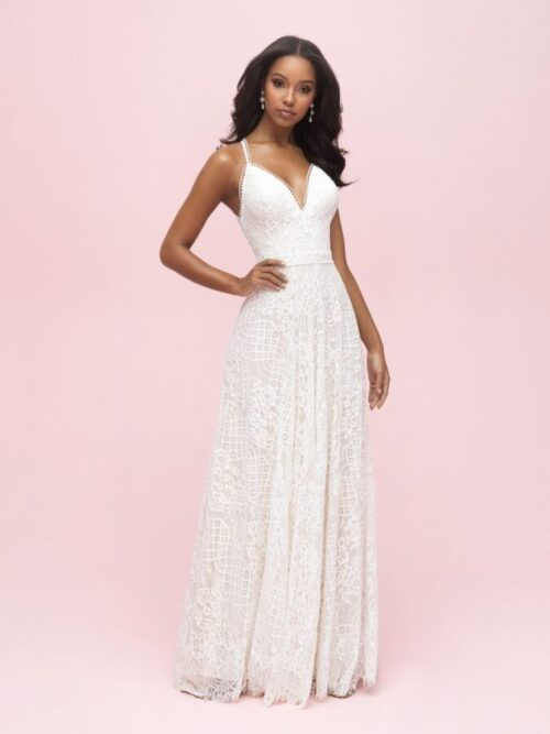 A-line sheath lace wedding dress