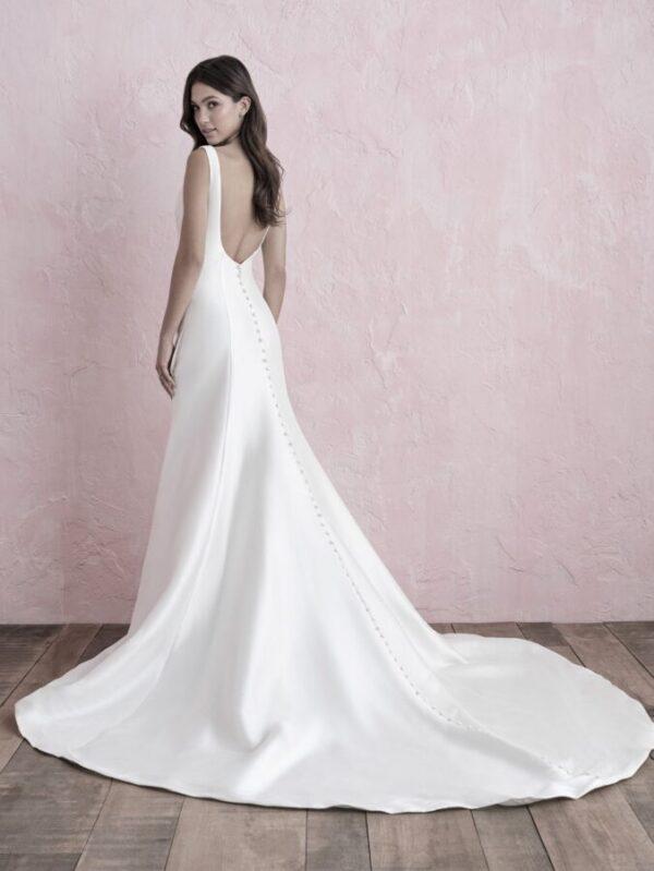 mikado a-line wedding dress