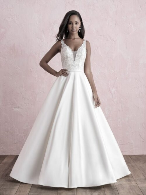 mikado a-line wedding dress