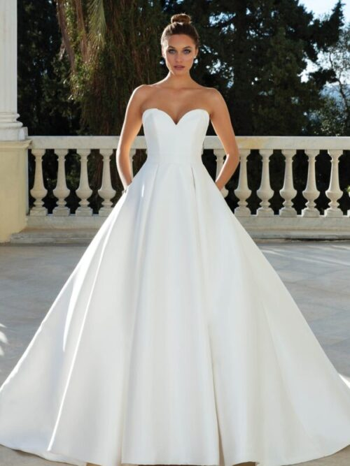 mikado ball gown wedding dress