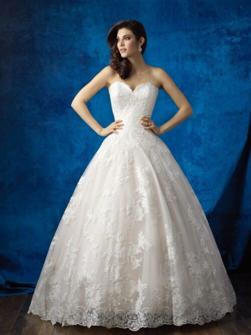 lace ball wedding dress