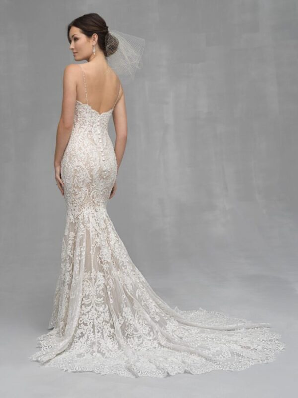 full lace fitted wedding dress