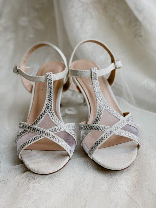 t strap wedding shoe for bride