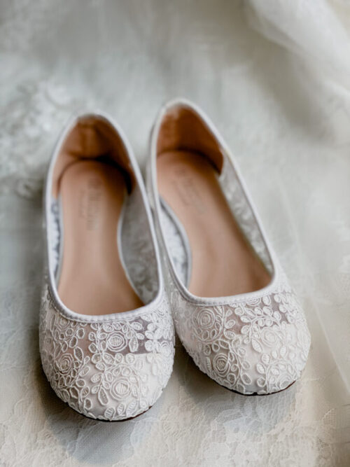 lace flat shoes for bride