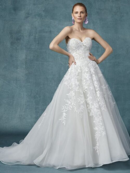 A-Line Princess Cut Wedding Dress