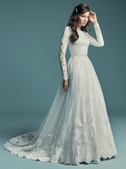 Long Sleeve Mermaid Wedding Gown