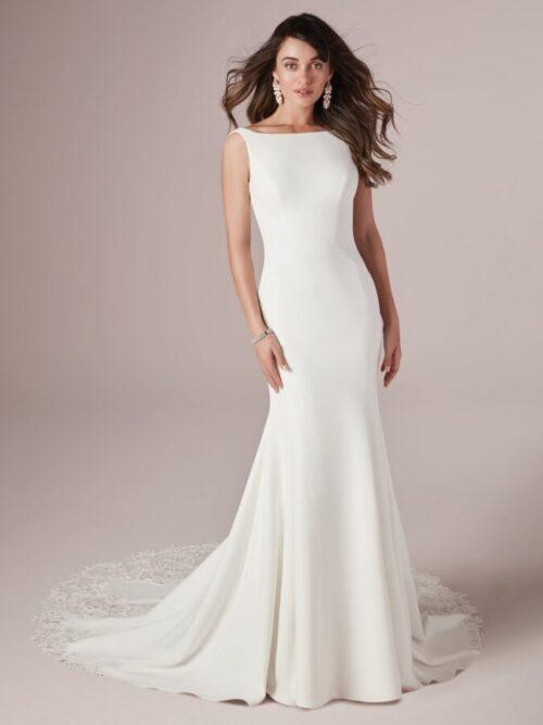 Crepe Sheath Wedding Dress