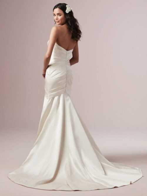 satin Fit-and-Flare Wedding Dress
