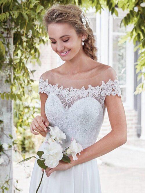 Sheath Chiffon Wedding Dress