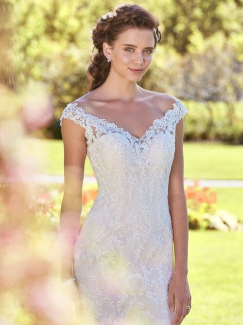 Classic Fit-and-Flare Wedding Dress