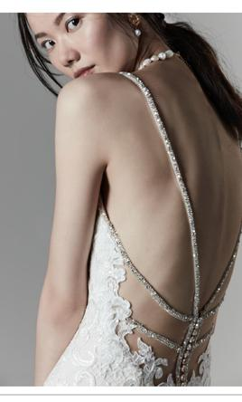 Backless Fit-and-Flare Wedding Dress