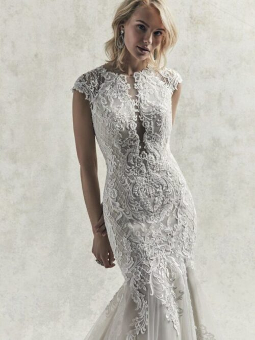 Cap Sleeve Mermaid Wedding Dress