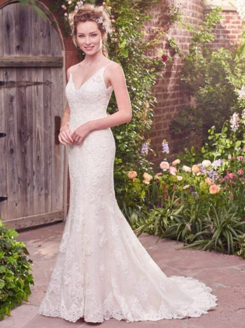 Fit-and-Flare Wedding Gown