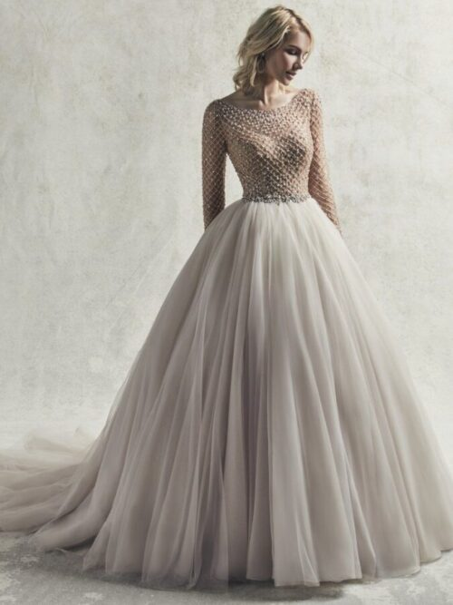 Long Sleeve Ball Gown Wedding Dress