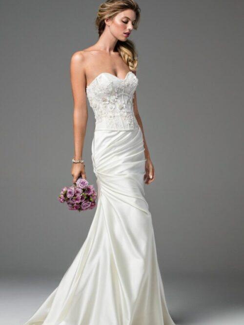 satin skirt bridal skirt separate
