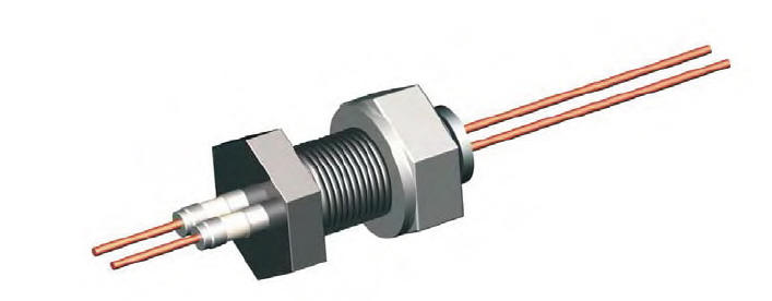 electrical feedthrough or vacuum feedthrough for vacuum chambers