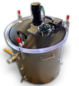 Vacuum Degassing System with Mixer