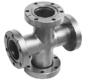 Conflat cross for Ultra-High Vacuum or UHV